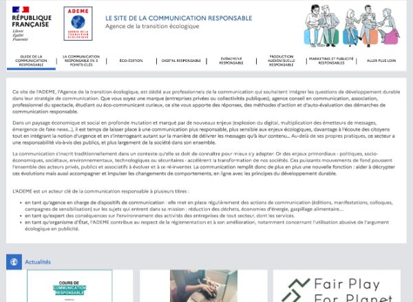 Le site de la communication responsable